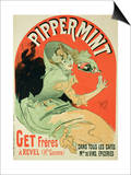 "Reproduction of a Poster Advertising ""Pippermint,"" 1899 Art by Jules Chéret"