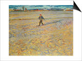 Sämann bei untergehender Sonne Kunstdrucke von Vincent van Gogh
