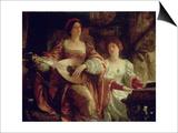 The Duet Art by Frank Bernard Dicksee