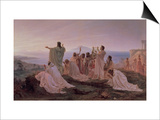 Pythagoreans' Hymn to the Rising Sun, 1869 Prints by Fedor Andreevich Bronnikov