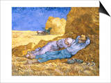 Midday Rest (after Millet), c.1890 Posters by Vincent van Gogh
