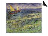 Seascape at Saintes-Maries, c.1888 Kunst von Vincent van Gogh