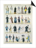 Costume Designs For an Adaptation of Les Miserables by Victor Hugo Prints by Jules Marre