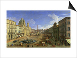 View of the Piazza Navona, Rome Posters by  Canaletto