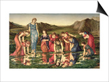 The Mirror of Venus, 1870-76 Art by Edward Burne-Jones