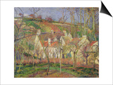 The Red Roofs, or Corner of a Village, Winter, 1877 Affiches par Camille Pissarro