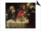 The Supper at Emmaus, circa 1614-21 Art by  Caravaggio