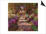 A Pathway in Monet's Garden, Giverny, 1902 Posters av Claude Monet