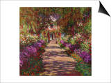 A Pathway in Monet's Garden, Giverny, 1902 Prints by Claude Monet