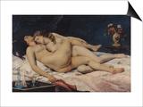 Le Sommeil, 1866 Affiches par Gustave Courbet