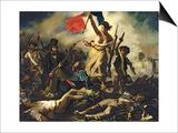 La Liberté menant le peuple, 28juillet1830 Posters par Eugene Delacroix