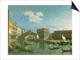 The Rialto Bridge, Venice Posters by  Canaletto
