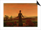 Woman at Dawn Prints by Caspar David Friedrich