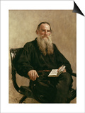 Lev Tolstoy (1828-1810) 1887 Posters by Ilya Efimovich Repin