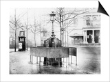 Vespasienne (Public Urinal) on the Grands Boulevards, Paris, C.1900 (B/W Photo) Prints by  French Photographer