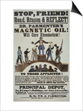 Advertisement for 'Doctor Parmenter's Magnetic Oil', 1840S Prints by  American School