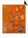 Evocation of Butterflies, c.1912 Posters by Odilon Redon