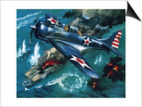 Battle of Midway Print by Wilf Hardy
