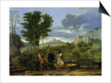 Autumn, or the Bunch of Grapes Taken from the Promised Land, 1660-64 Poster by Nicolas Poussin