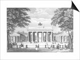 The Brandenburg Gate in Berlin, Mid 19th Century Poster
