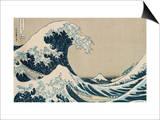 """Katsushika Hokusai - Velká vlna u pobřeží Kanagawy (ze """"36 pohledů na horu Fudži""""), (""""Fugaku Sandžúrokkei"""") Umění"""