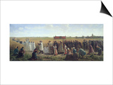 The Blessing of the Wheat in the Artois, 1857 Prints by Jules Breton