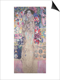 Portrait of Maria Munk (Unfinished 1917-18) Lámina por Gustav Klimt