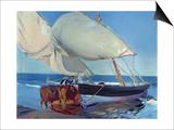 Sailing Boats, 1916 Prints by Joaquín Sorolla y Bastida
