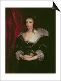 Queen Henrietta Maria Kunstdrucke von Sir Anthony Van Dyck