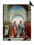 Aristotle and Plato: Detail from the School of Athens in the Stanza Della Segnatura, 1510-11 Affiches par  Raphael