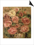 Flowers, 1913-19 Prints by Pierre-Auguste Renoir