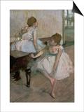 Two Dancers Resting, 1874 Print by Edgar Degas