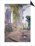 Garden Grotto, Alcazar de Seville, 1910 Posters by Joaquín Sorolla y Bastida