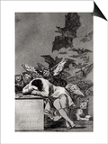 "The Sleep of Reason Produces Monsters, from ""Los Caprichos"" Prints by Francisco de Goya"
