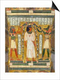 Libation of the Dead, Interior of the Sarcophagus of Amenemipet, Priest of the Cult of Amenophis Posters by  Egyptian 18th Dynasty