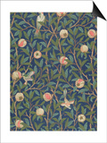 'Bird and Pomegranate' Wallpaper Design, printed by John Henry Dearle Posters by William Morris