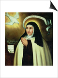 St. Theresa of Avila (1515-82) 1570 Posters by Juan de la Miseria