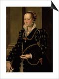 Portrait of Laudomia de Medici Plakat af Agnolo Bronzino