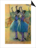 Two Blue Dancers Posters by Edgar Degas