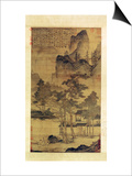 Scenes of Hermits' Long Days in the Quiet Mountains Prints by T'ang Yin