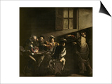 The Calling of St. Matthew, circa 1598-1601 Posters by  Caravaggio
