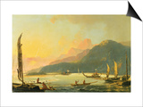 Tahitian War Galleys in Matavai Bay, Tahiti, 1766 Prints by William Hodges