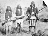Geronimo and Three of His Apache Warriors, 1886 Posters