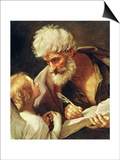 Saint Matthew Prints by Guido Reni