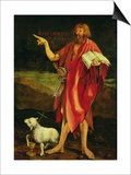 St. John the Baptist from the Isenheim Altarpiece, circa 1512-16 Poster af Matthias Grünewald