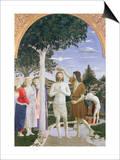 Kristi dåb Plakat af Piero della Francesca