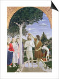 Baptism of Christ Print by  Piero della Francesca