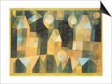 Paul Klee - Three Houses and a Bridge, 1922 Obrazy