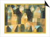 Three Houses and a Bridge, 1922 Poster by Paul Klee