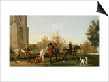 Lord Torrington's Hunt Servants Setting Out from Southill, Bedfordshire, c.1765-8 Print by George Stubbs